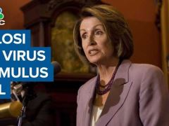 Nancy Pelosi CNBC Interview On Coronavirus Stimulus Bill