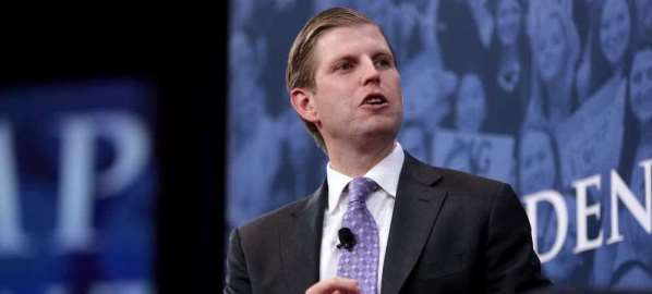 Eric Trump speaking at the 2018 Conservative Political Action Conference.